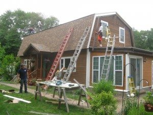 Roof Trim being replaced