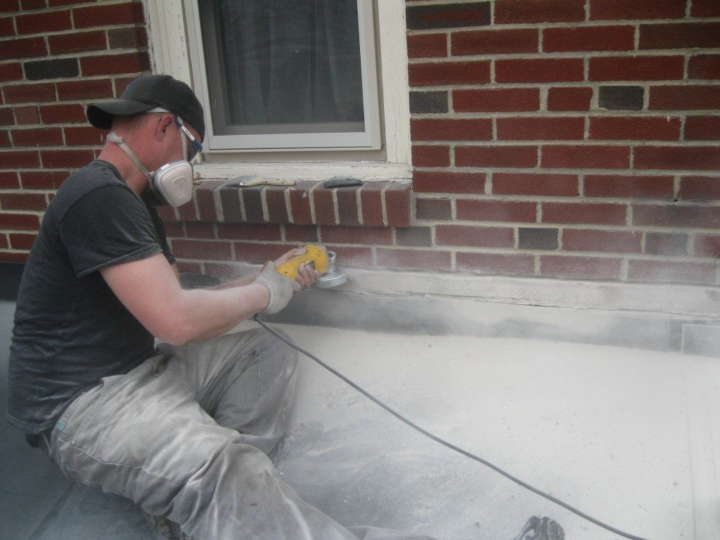 "Landmark Roofing Repairing roofing - ""counterflashing"""