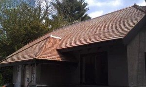 Completed roof of satisfied customer