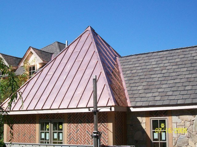 Copper roof making a statement