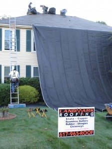 protecting a home during roof renovation