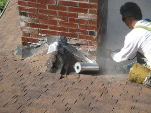 Roof ventilation and chimney flashing